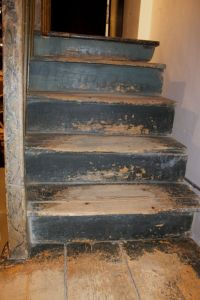 Folk-Painted Stairs and Gate   Stair steps, Modern stairs ...