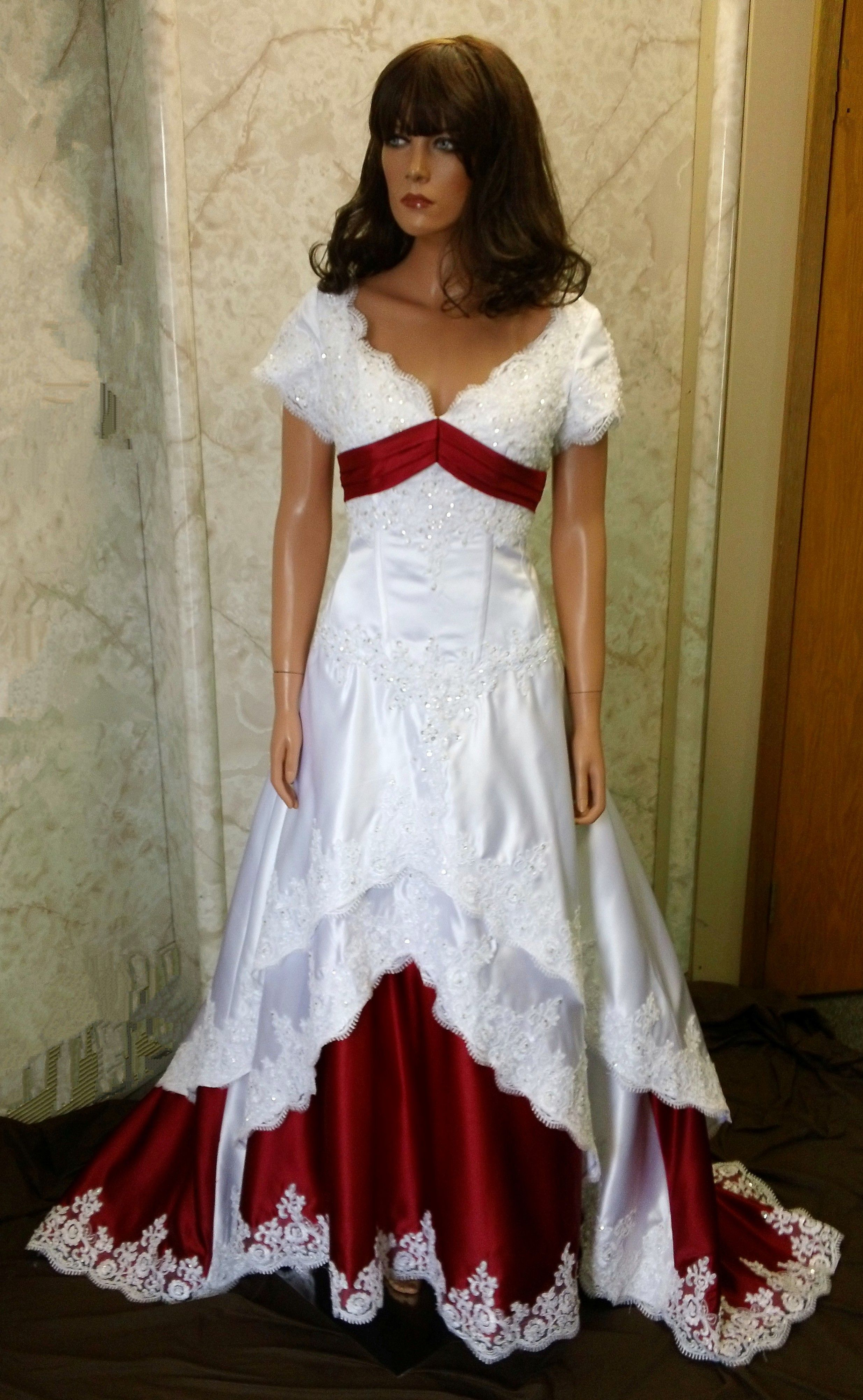 red wedding dresses off white and red wedding dresses