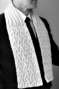 Scarf mens knit natural knitted cable scarves mens by ...