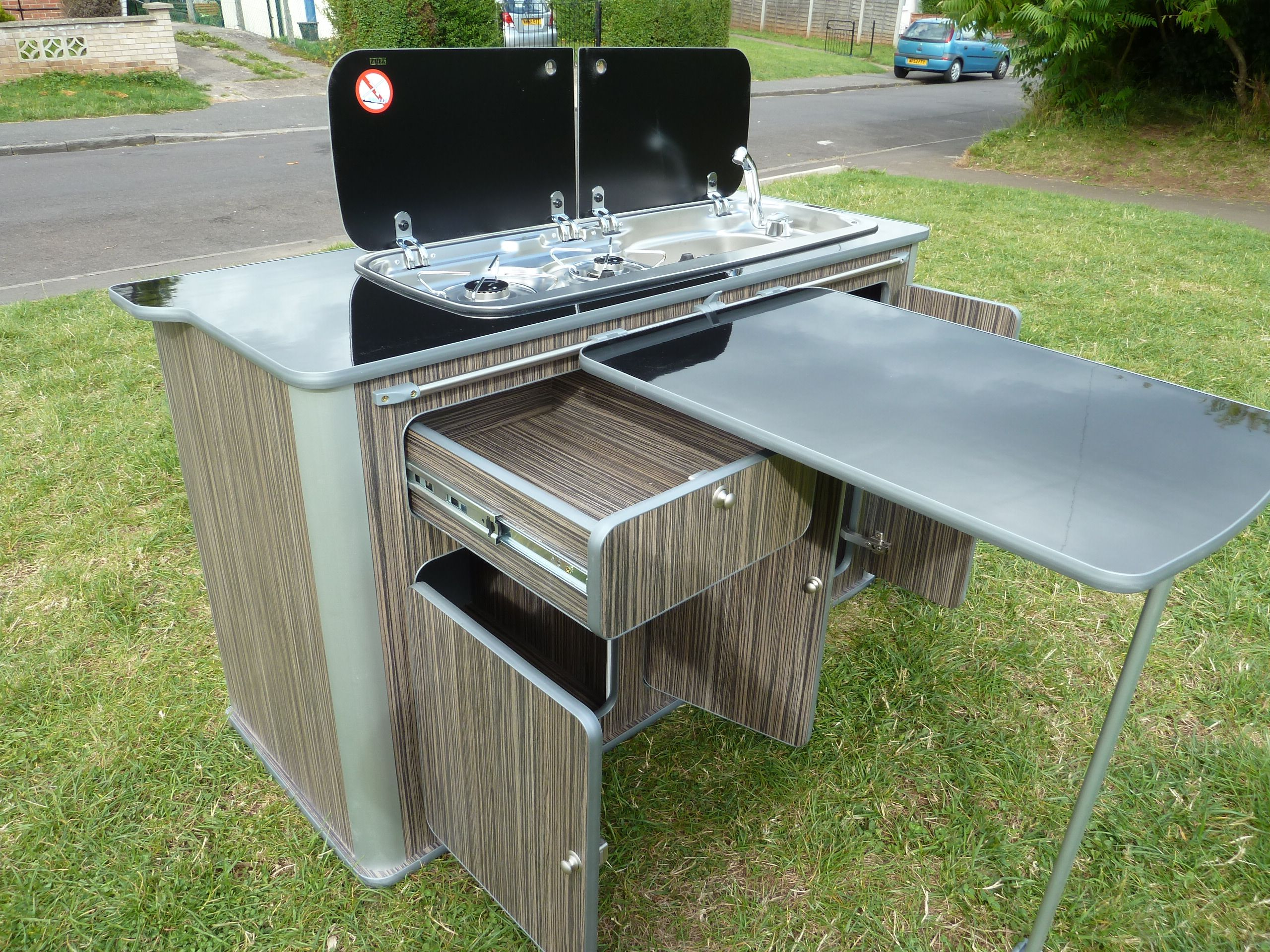 Caravan With Slide Out Kitchen Campervan Slide Out Kitchen Google Search T2