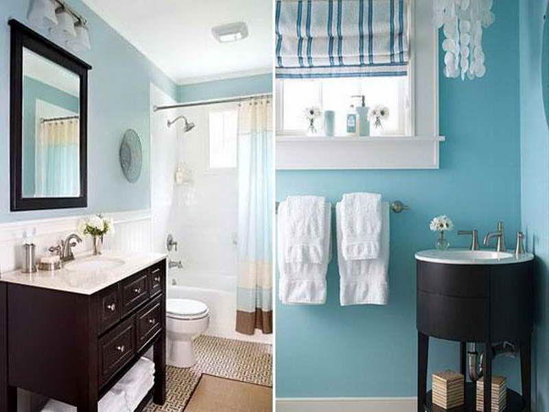 Brown and Blue Bathroom Ideas Blue Brown Color Scheme Modern - blue bathroom ideas