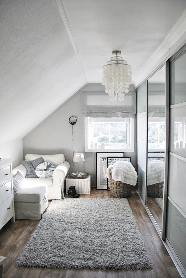 elegantes Ankleidezimmer in weißer Farbe tumblr room Pinterest - dekoration farbe fur dachschragen