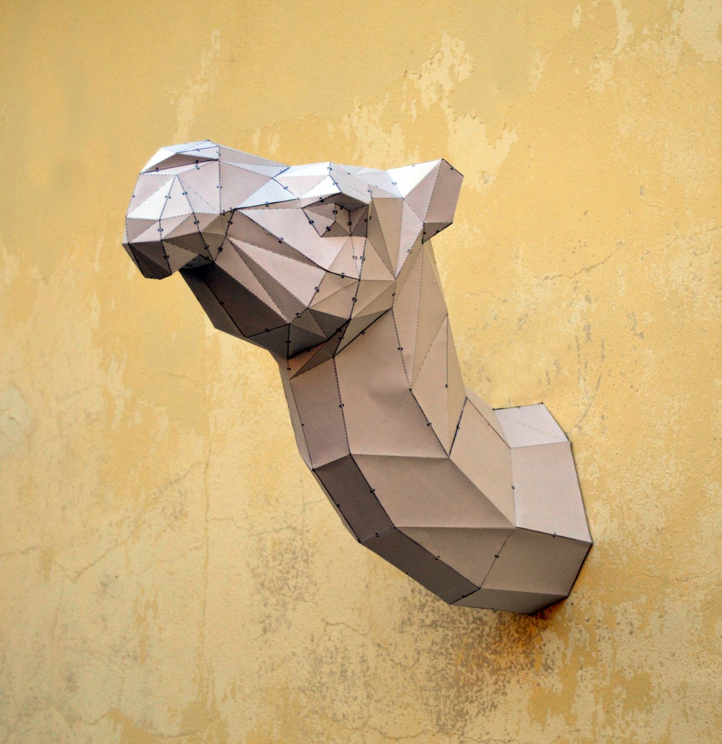 Papertrophy Make Your Own Camel Sculpture Camel Papercraft