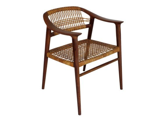 Flechtstühle Esszimmer Three (3) Bambi Teak And Cane Dining Chair By Rastad And
