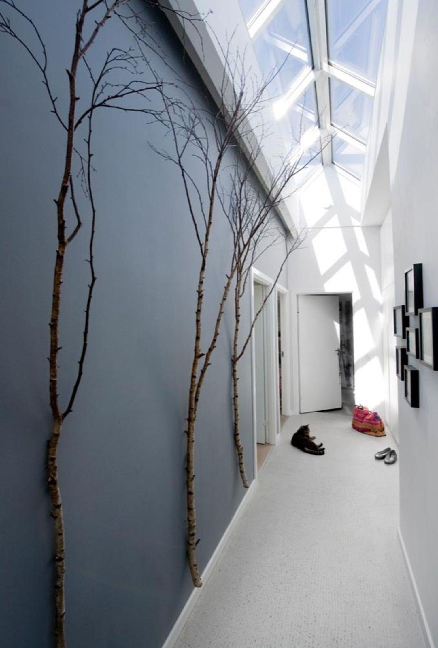 Idée Peinture Couloir Sombre | Couleur Peinture Entree Couloir ...
