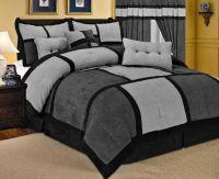 grey comforter sets | Queen Size Comforters  21 Piece ...