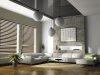 Fashionable Window Blinds Design In Modern Style Living ...