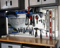 Wall Control Metal Pegboard for garage tool storage and ...