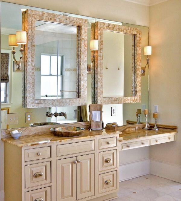 double mirrors bathroom vanity Master bathroom vanity, Master - bathroom vanity mirror ideas