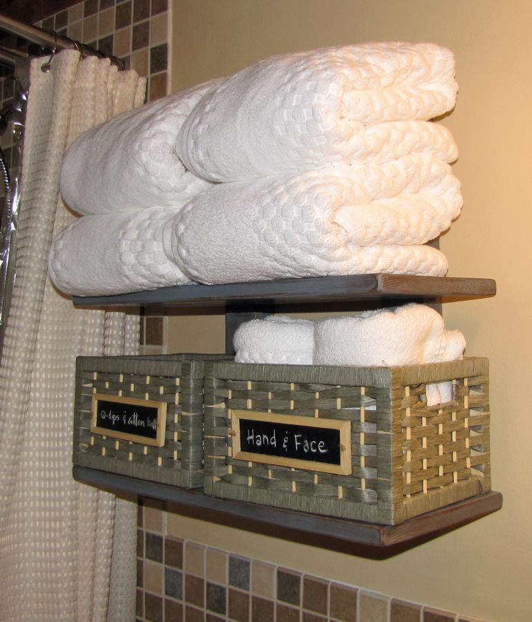 Bathroom shelf Do It Yourself Home Projects from Ana White - badezimmer do it yourself