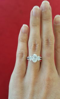 Split Shank Engagement ring, 3 stone Engagement Ring, 3 ...