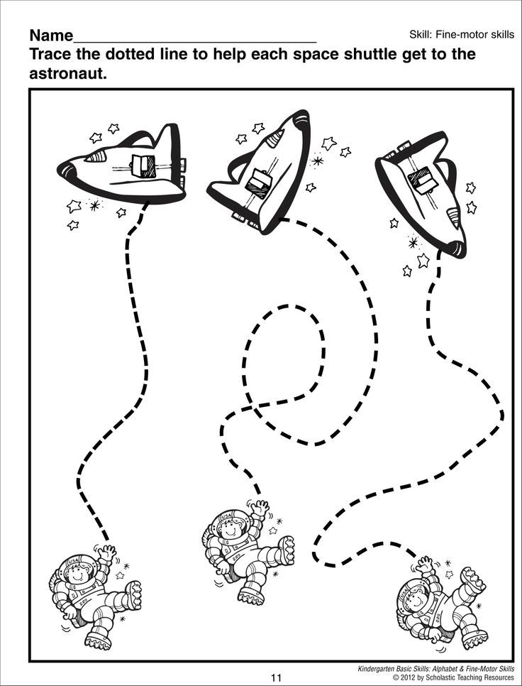 Astronaut Trace Worksheet Space Pinterest Astronauts