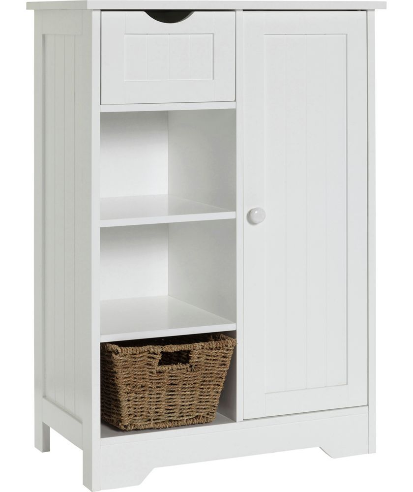 Buy shaker slimline hall storage unit with cupboard white at argos co uk
