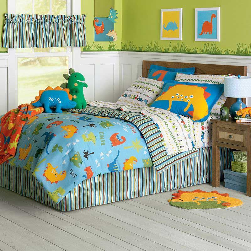 Can Dinosaur Bedding Work For a Girlu0027s Bedroom? Dinosaur bedding - dinosaur bedroom ideas