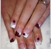 Lady bug Nails | nails | Pinterest | Lady bugs
