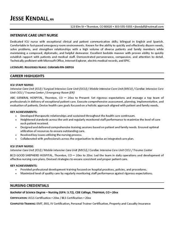 resume for registered nurse best 25 nursing resume ideas on