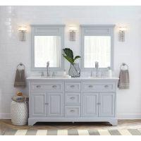Home Decorators Collection Sadie 67 in. W Vanity in Dove ...