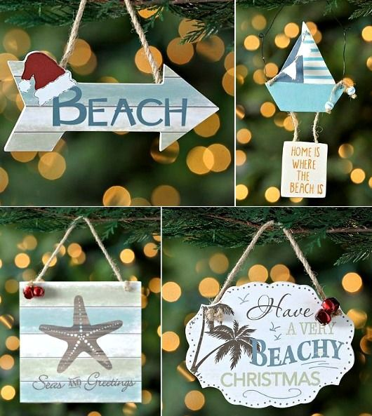 Beach Christmas Ornaments with Quotes http\/\/www - beach themed christmas decorations
