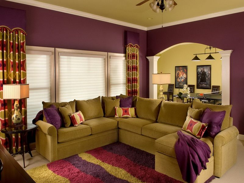 Wall Living Room Paint Eggplant Color Scheme, If I only had the - color for living room