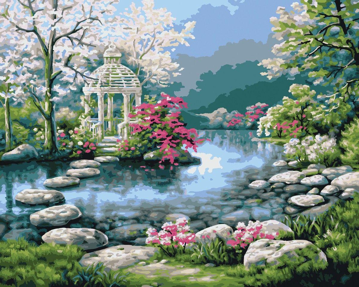 Flower beautiful garden paintings