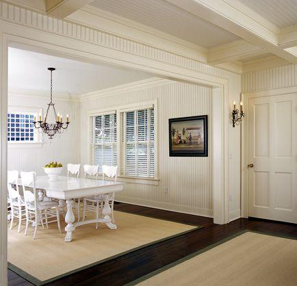 beadboard ceilings in hallway