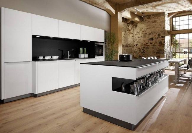 renommierte küchenhersteller europa Allmilmö schwarz weiß insel - 20 ideen kuchen planung renomierten herstellern
