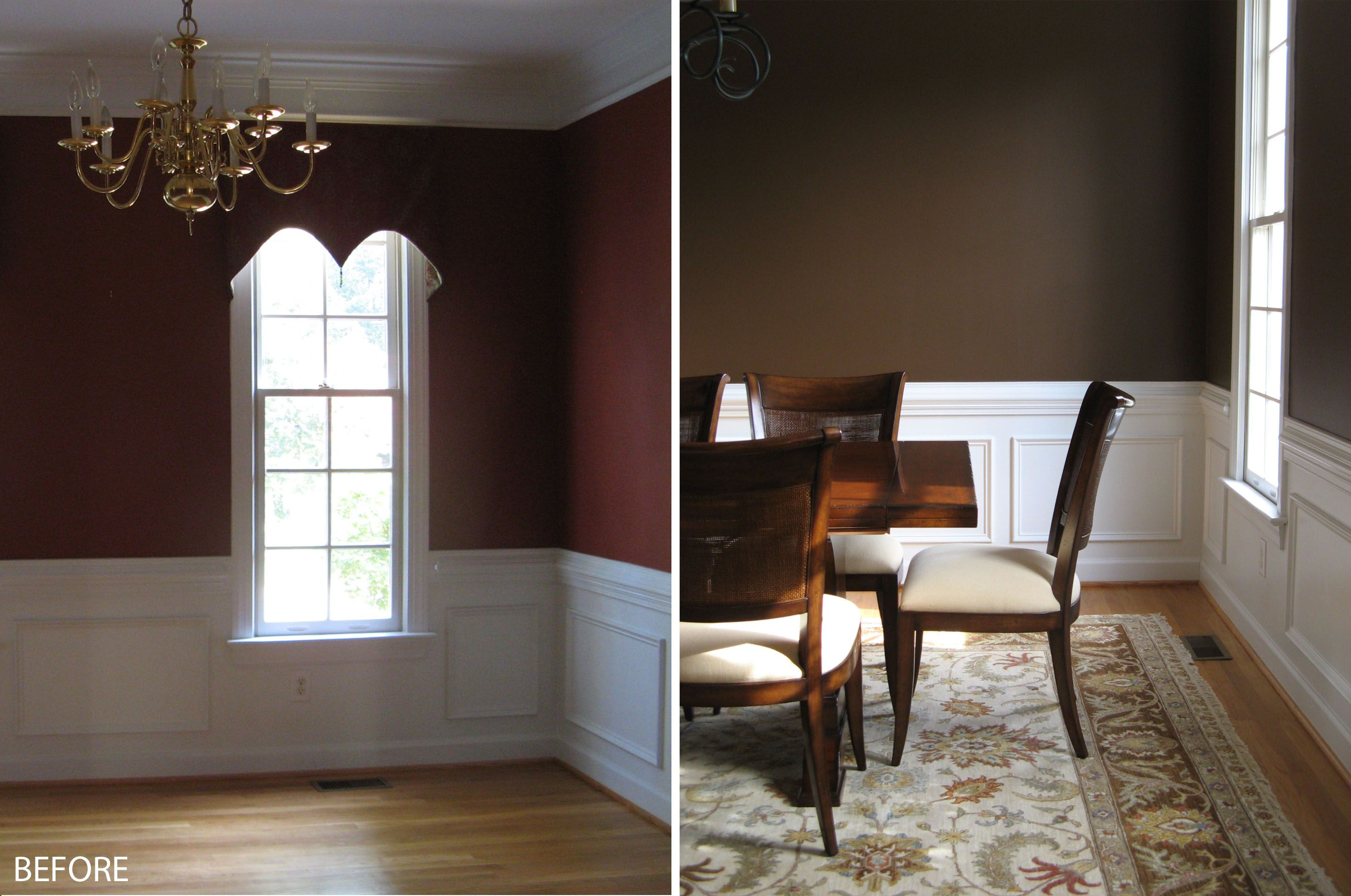 The dining room wall painting ideas above is used allow