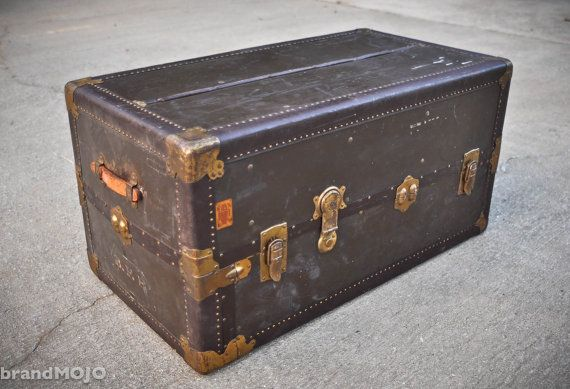 Steamer Trunk Coffee Table Details About Vintage Steamer