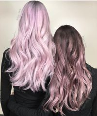 Metallic pink hair color and metallic rose hair color