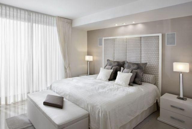 kleines schlafzimmer helle farben weiß creme tischleuchten - schlafzimmer creme wei