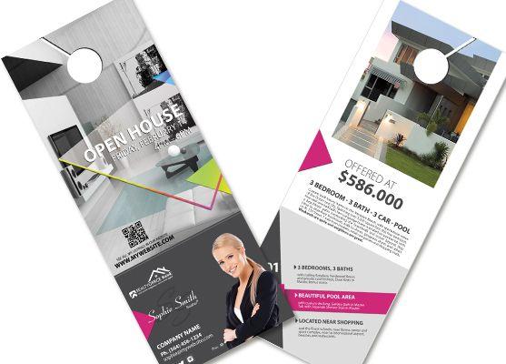 Real Estate Door Hangers Creative Real Estate Door Hanger - retail and consumer door hanger template