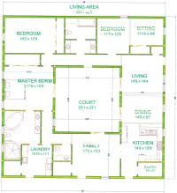 Center Courtyard House Plans | with 2831 square feet this ...