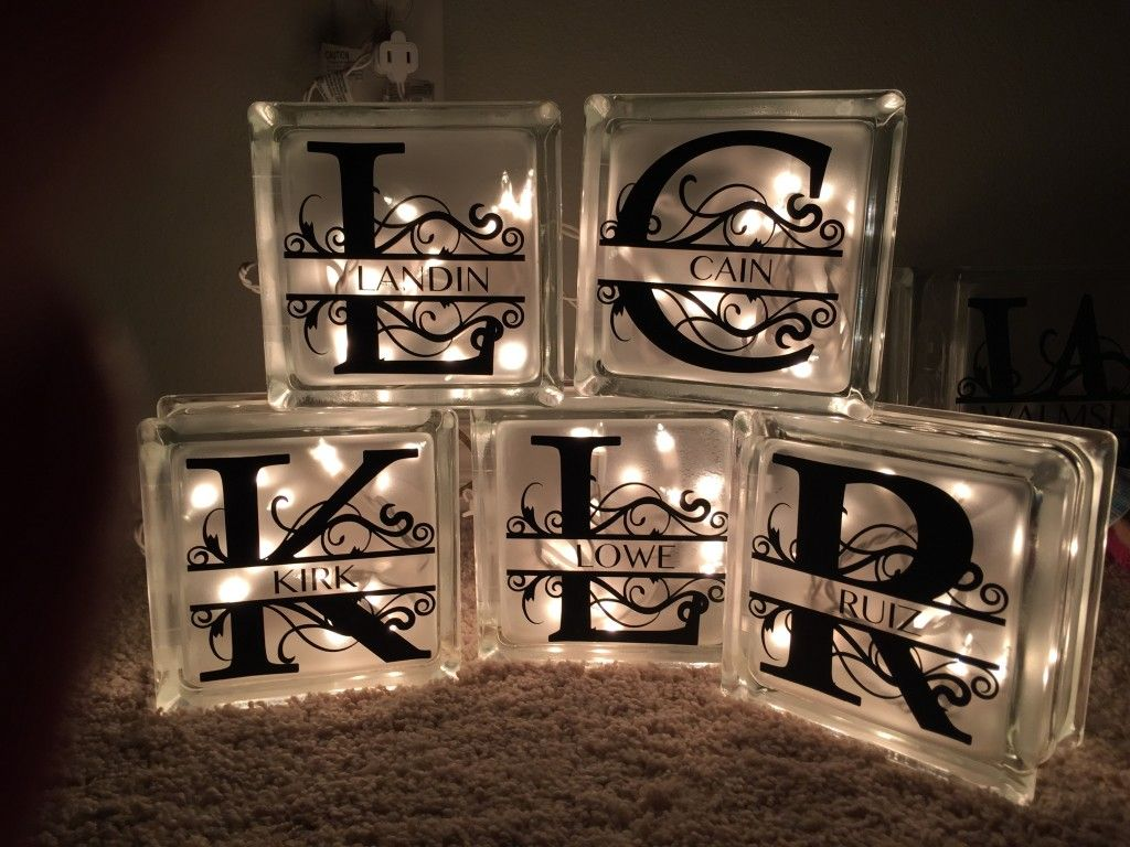 Step by step how to make decorative lighted glass blocks