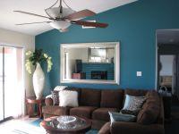 Navy blue living room wall will looks harmonious with dark ...
