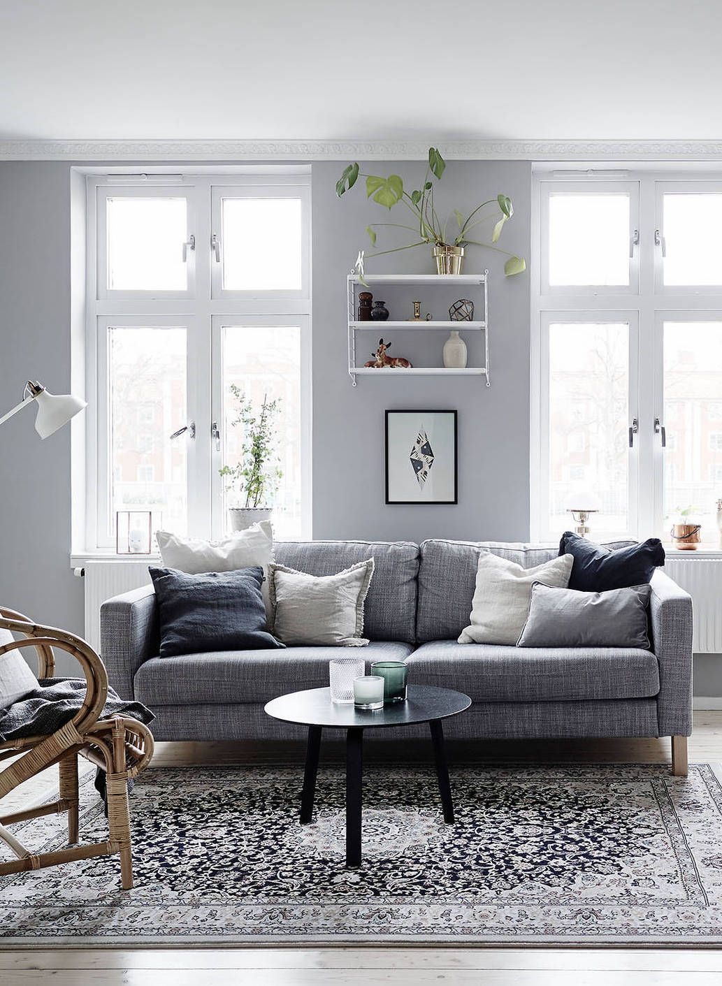 Dark Gray Living Room Soft Grey Home Via Cocolapinedesign Living Room
