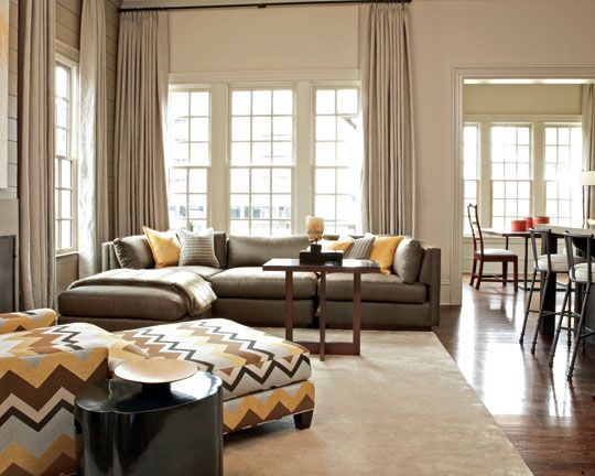 WALL COLOR -  - gray and beige living room