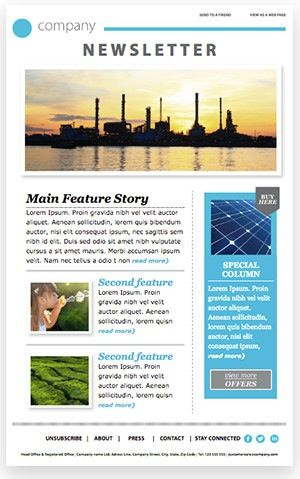 email newsletter template free