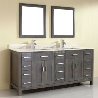 Double Sink Bathroom Vanity Kalize 75 French Gray Finish ...