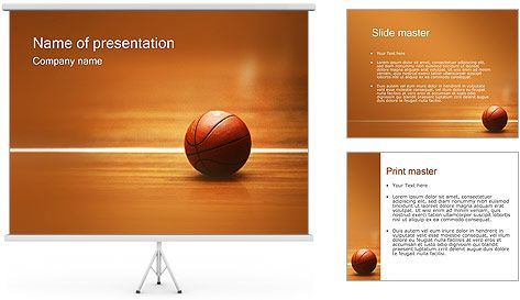 Sports Basketball Backgrounds for PowerPoint Templates - basketball powerpoint template