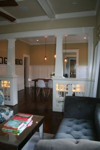 lit cabinets as a room divider  love it! | followpics.co ...