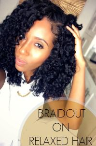Perfect Braidout on Relaxed Hair   Back to the Creamy ...