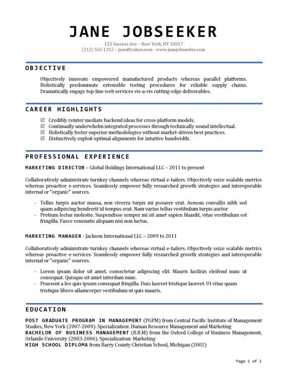 Buy Resume Templates - Resume Template and Cover Letter Template - buy resume templates