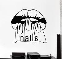 Vinyl Wall Decal Nail Salon Beauty Woman Manicure Spa ...