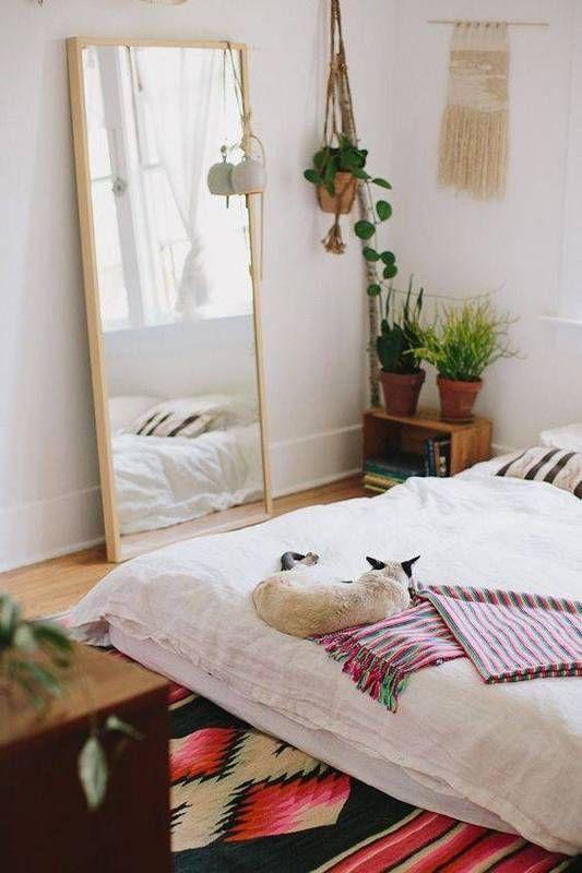 proof that pets ALWAYS upgrade your decor Mattress, Boho and - bedroom floor ideas