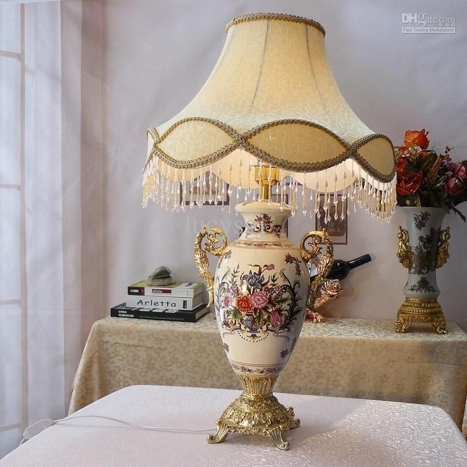 Fashion quality ceramic table lamp antique vintage style