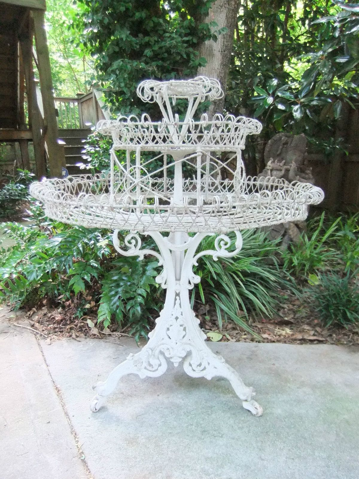 Tall Wrought Iron Plant Stands Antique Victorian White Wrought Iron Plant Stand 43 Quot Tall