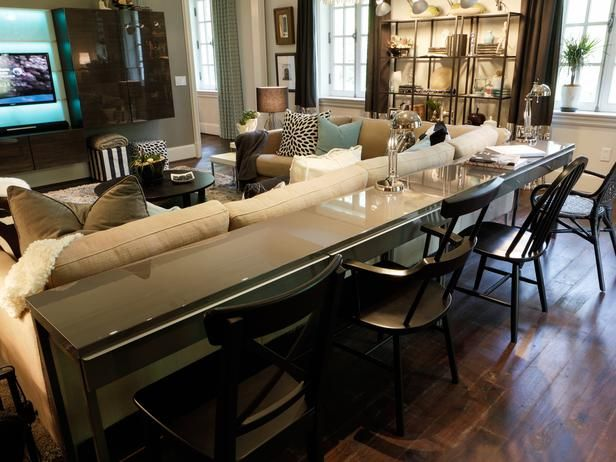 Transitional Living-rooms from Linda Castle on HGTV Living Room - living room bar furniture