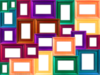 Window Frame Collage | COLORFUL COLLAGE OF FRAMES FRAME ...