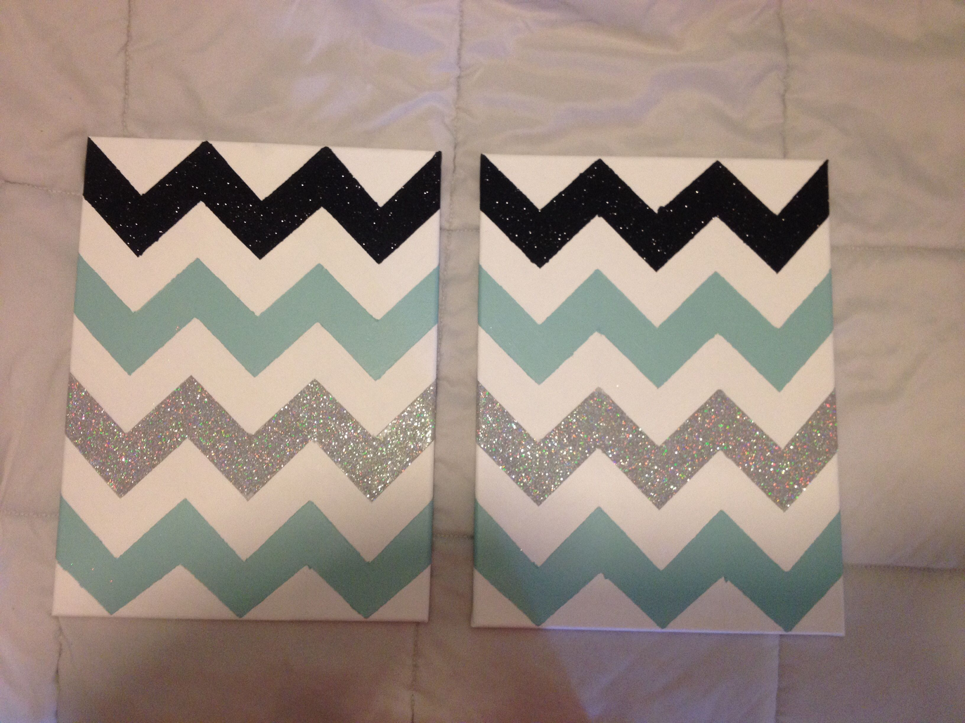 Wall Art Ideas For Teenagers Diy Chevron Canvas Make Your Chevron Pattern Tape Off