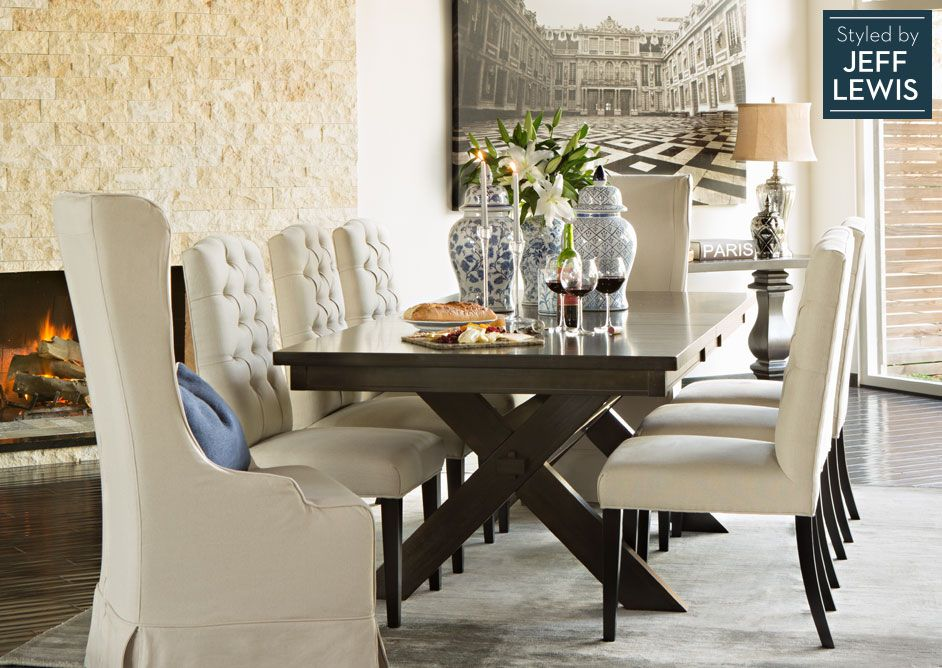Dining Room Living Spaces Laidback Luxury styled by Jeff Lewis - living spaces dining room sets